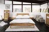 Łóżko MINIMAL z litego drewna