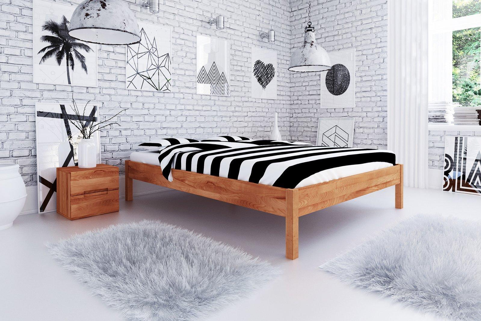 Rama łóżka VENTO A z litego drewna