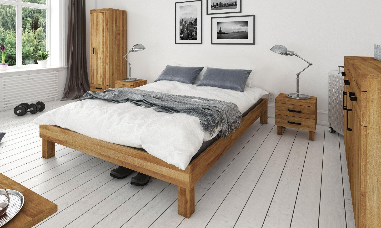Rama łóżka BINGO z litego drewna