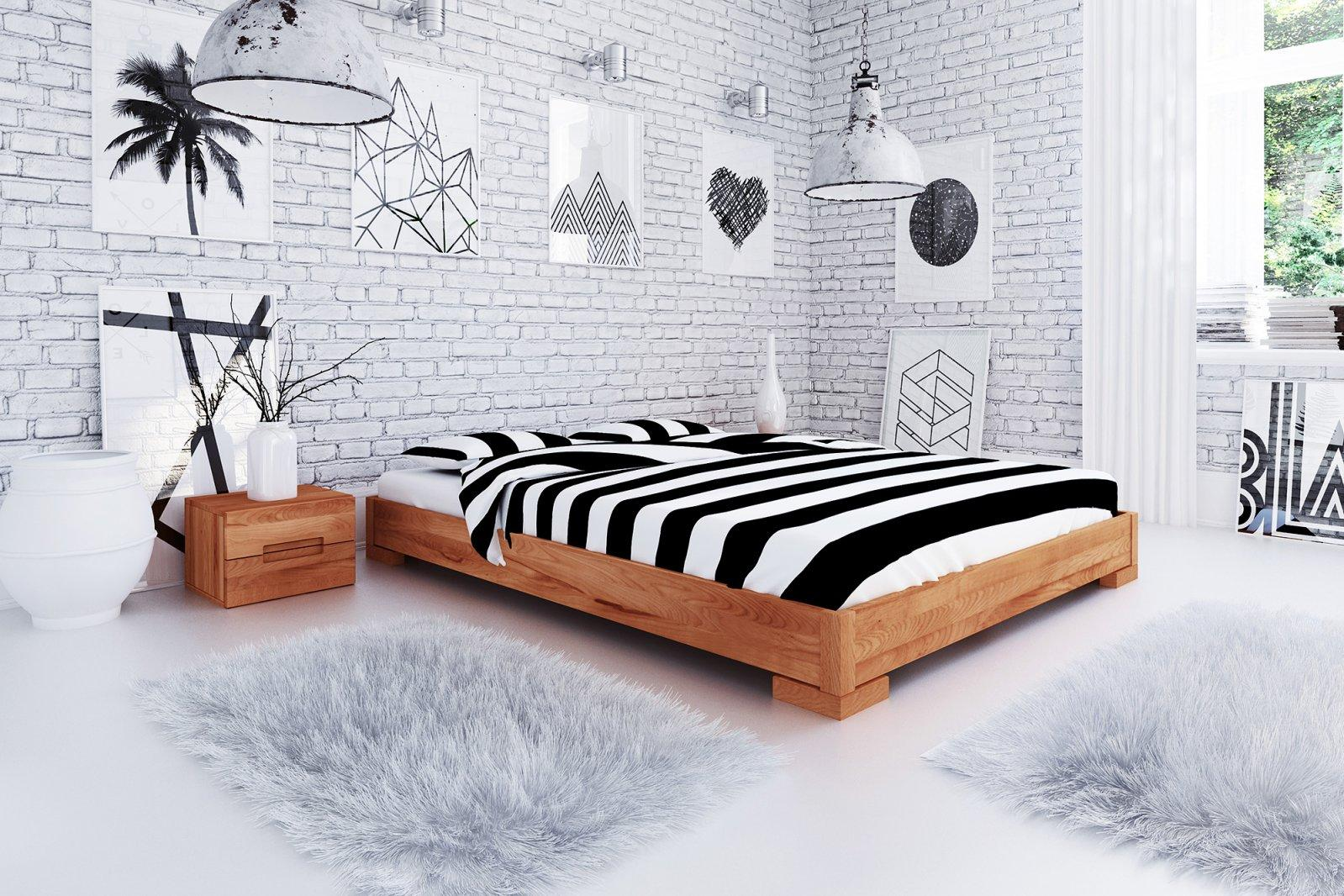 Rama łóżka VENTO E z litego drewna