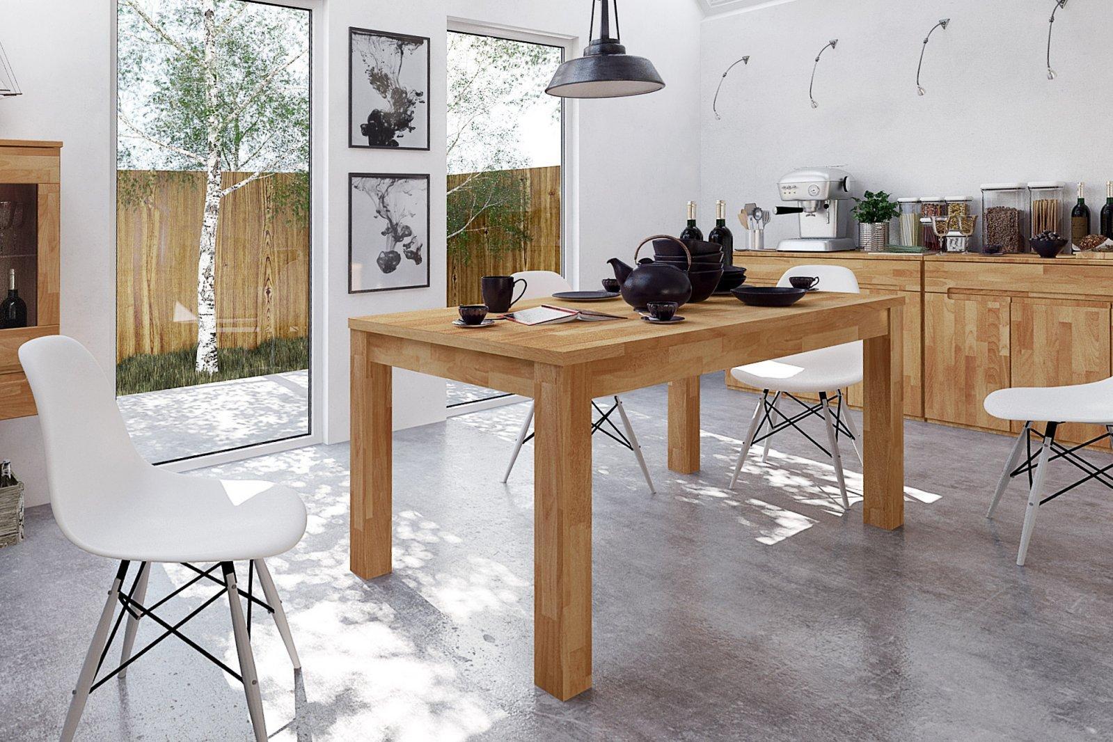 Stół VENTO nierozkładany z litego drewna