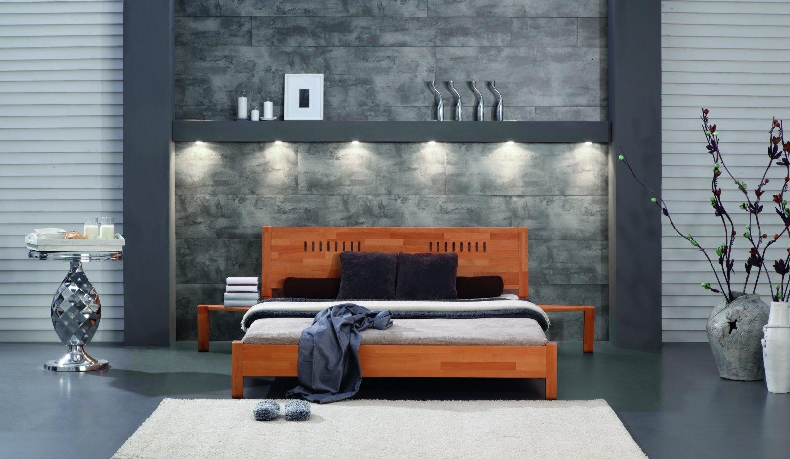 Łóżko SPACE z litego drewna