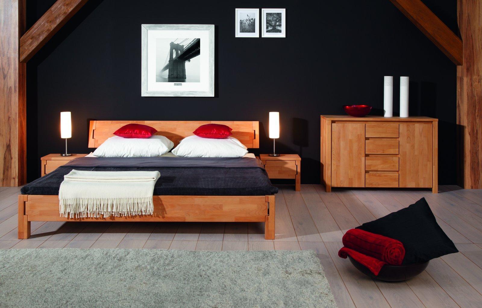 Łóżko KOLI z litego drewna