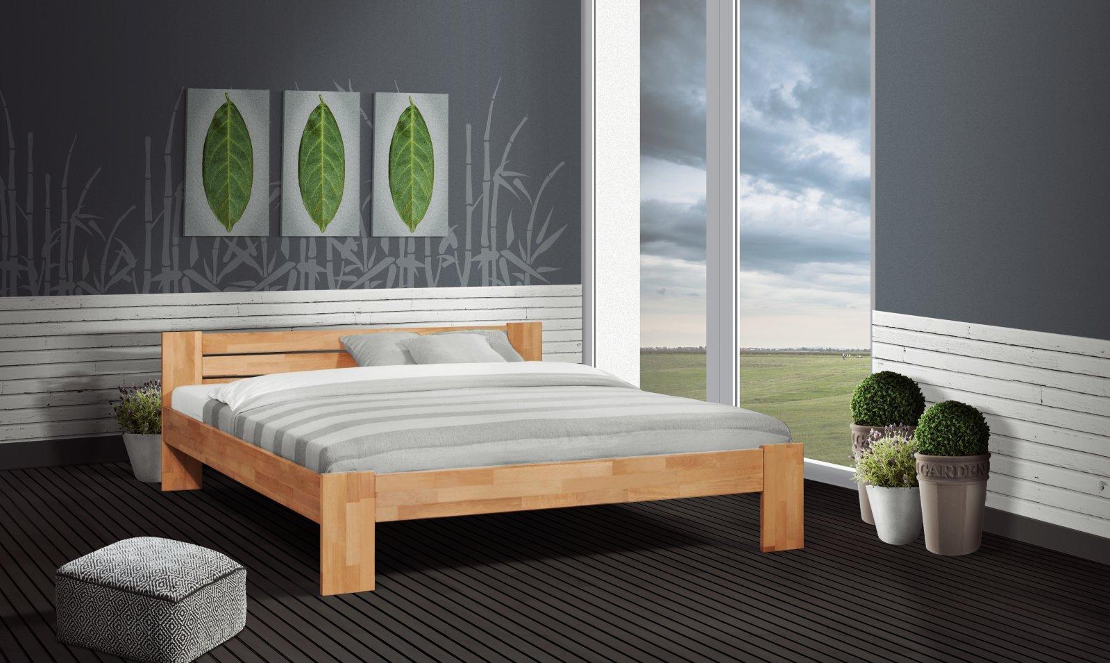 Łóżko NATURA z litego drewna
