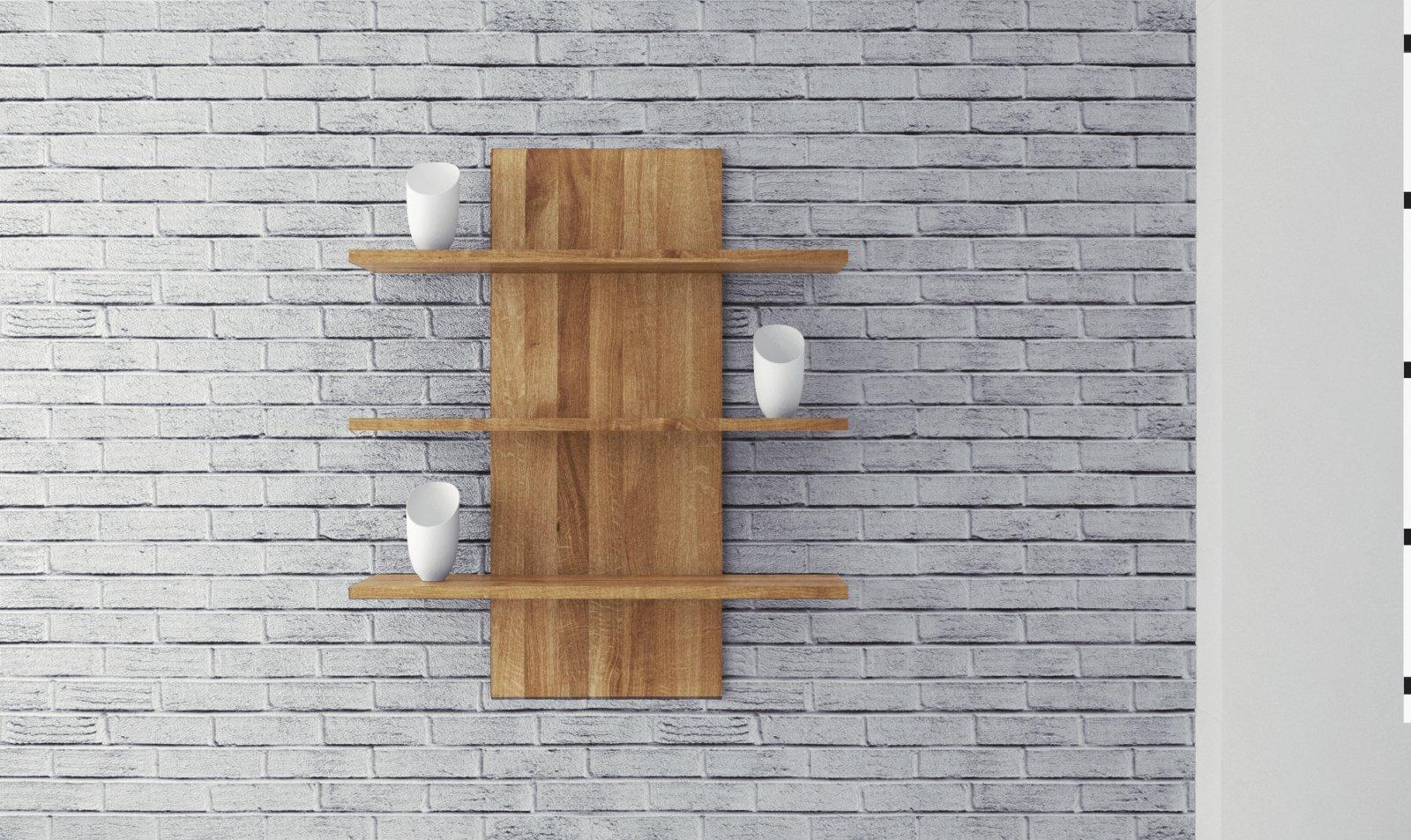 Półka SETI z litego drewna