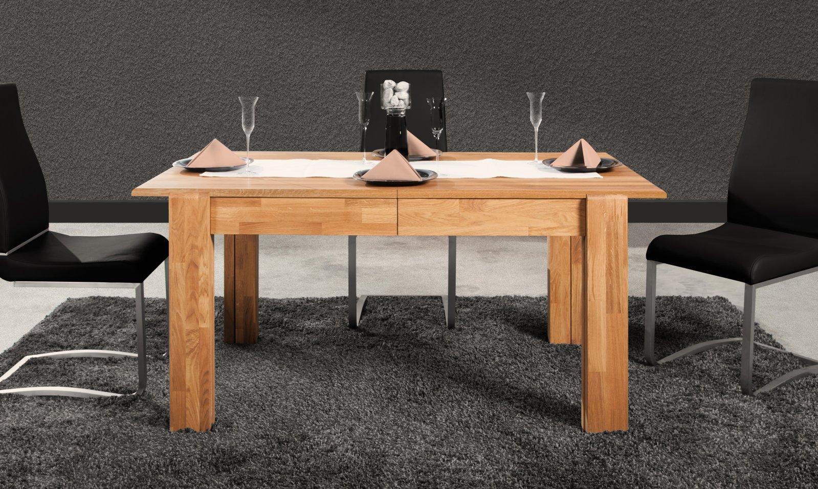 Stół SETI rozkładany z litego drewna