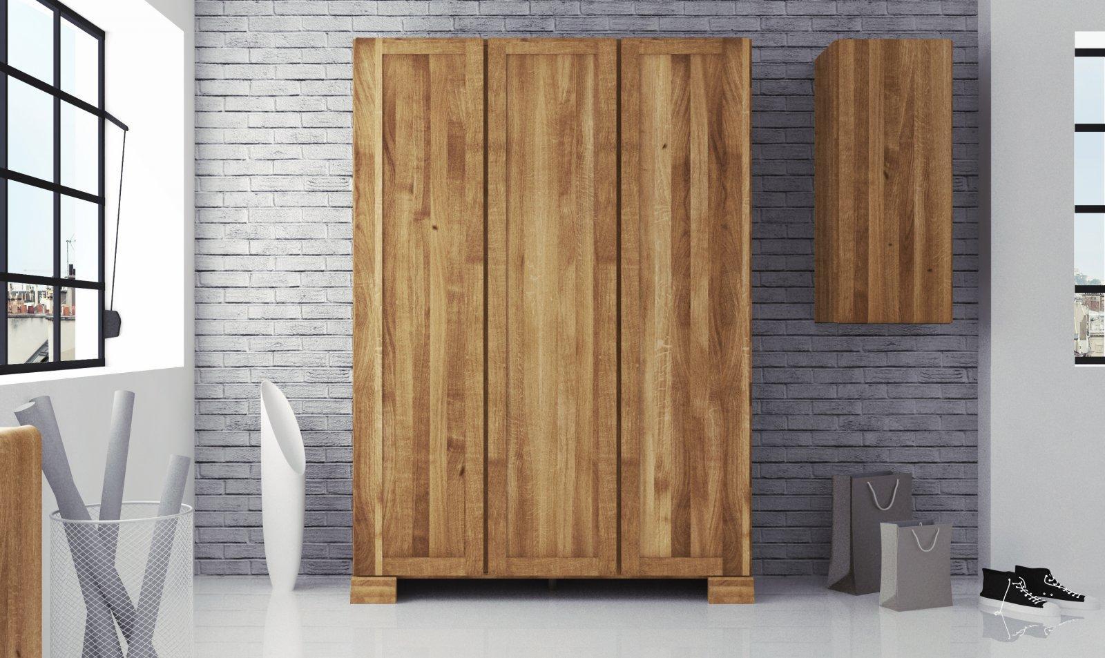 Szafa SETI 3-drzwiowa z litego drewna