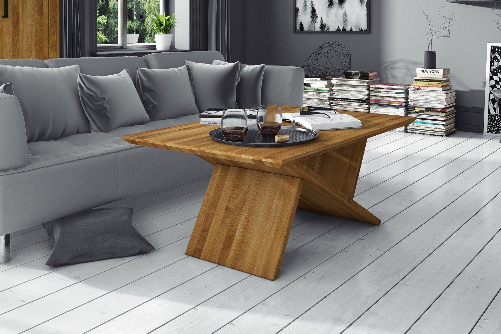 Stolik TRIK z litego drewna