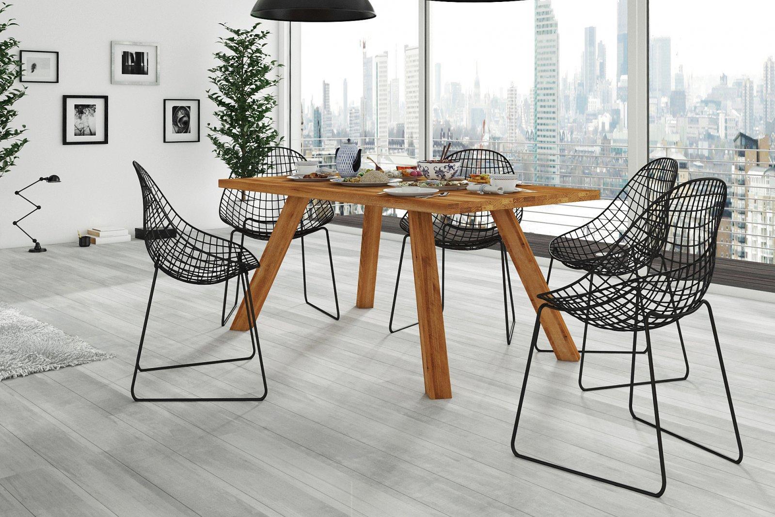 Stół COBALT nierozkładany z litego drewna
