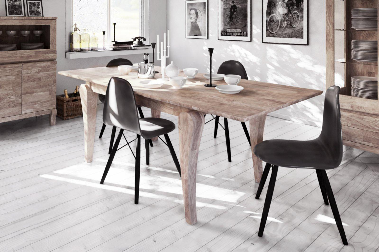 Stół BONA z rozsuwanym blatem z litego drewna