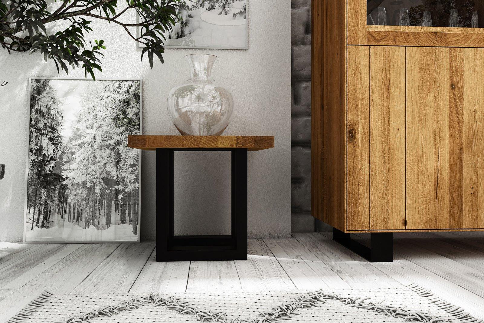 Stolik STEEL z litego drewna