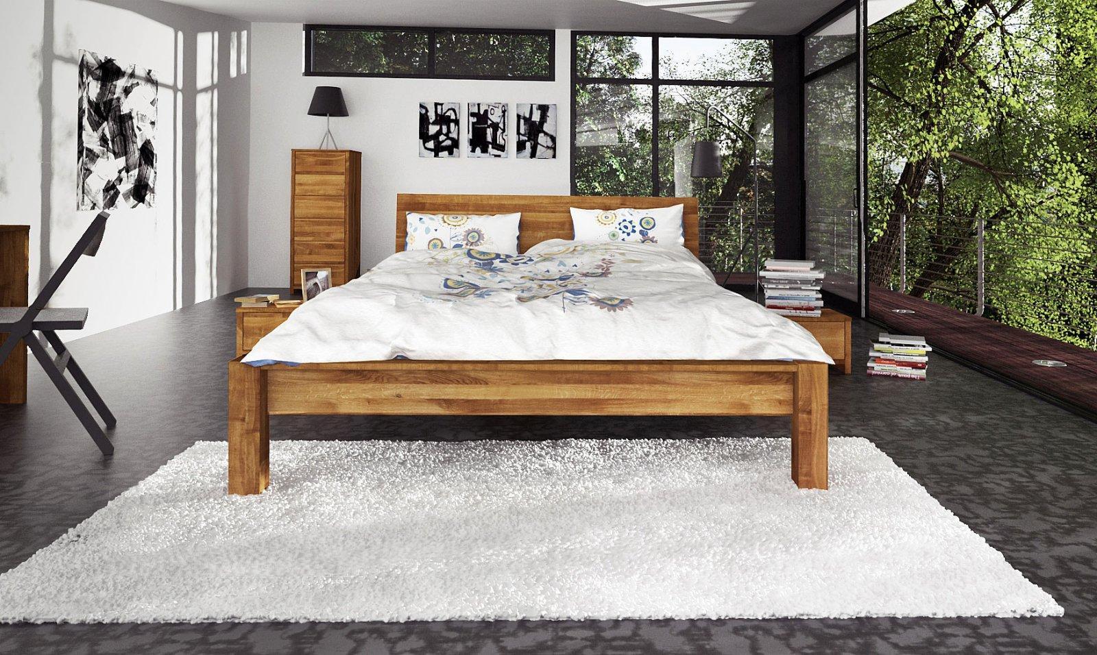 Łóżko JAMES z litego drewna