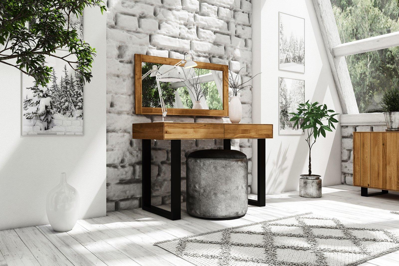 Toaletka STEEL z litego drewna
