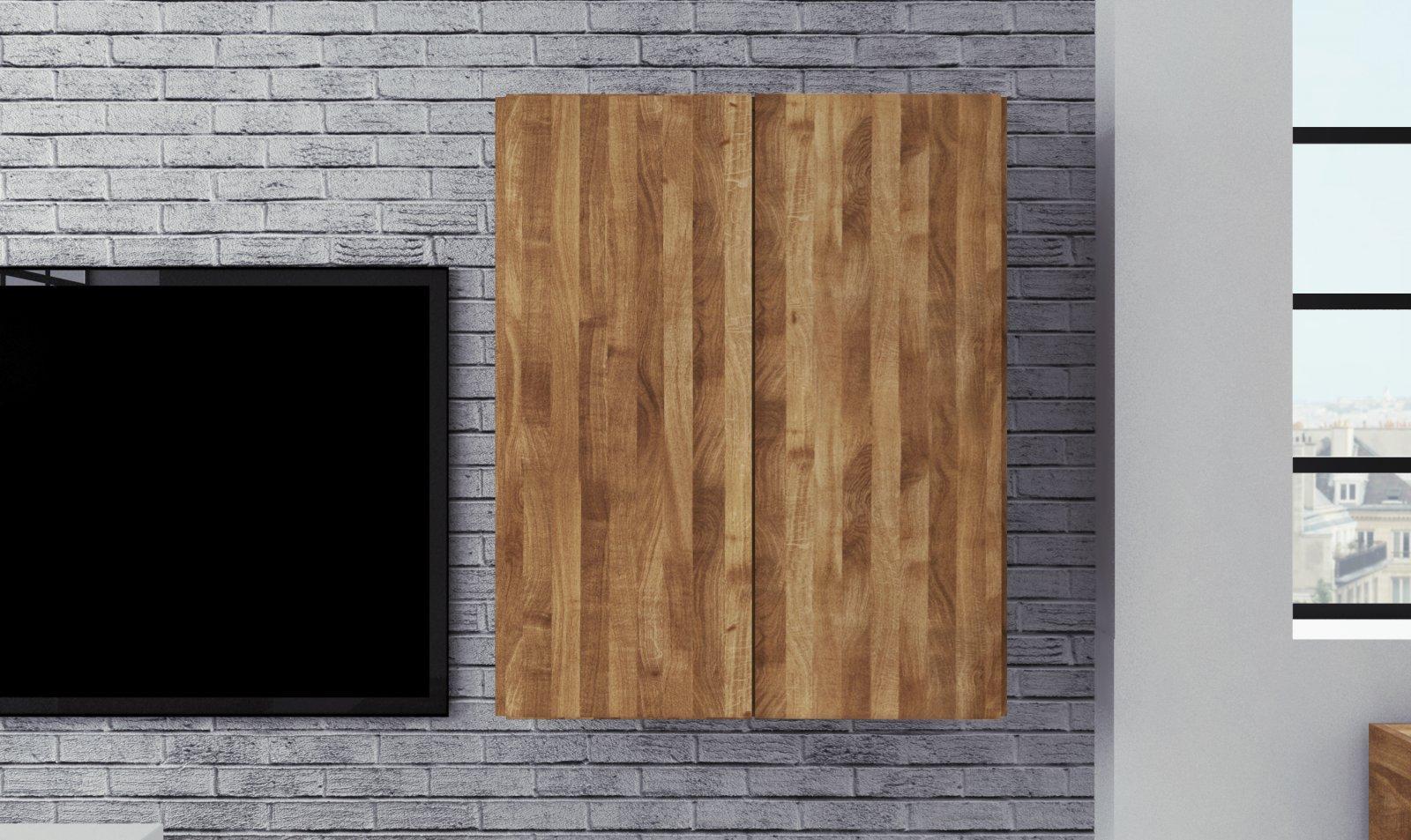 Szafka wisząca SETI z litego drewna