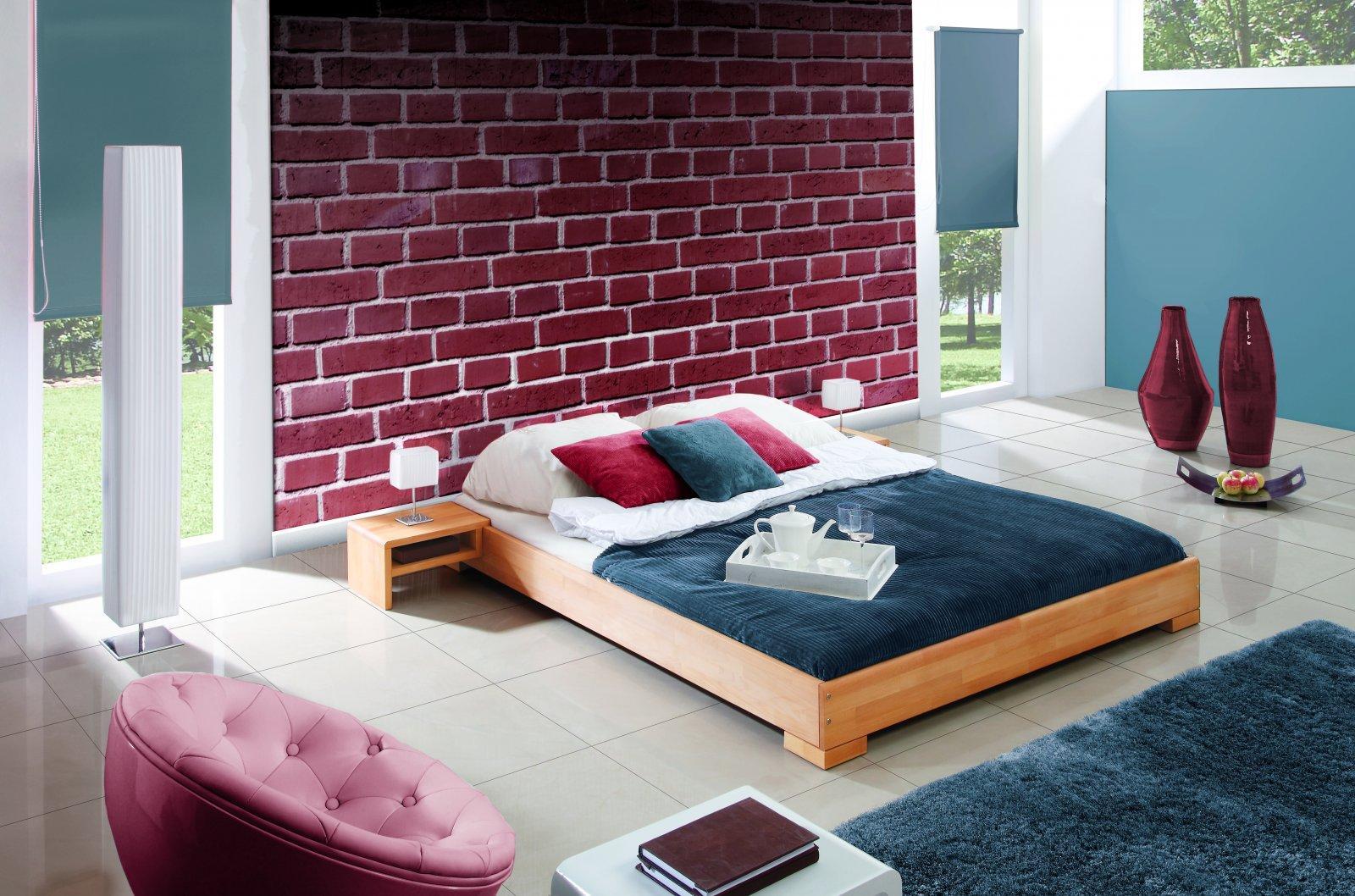 Rama łóżka MOLA z litego drewna