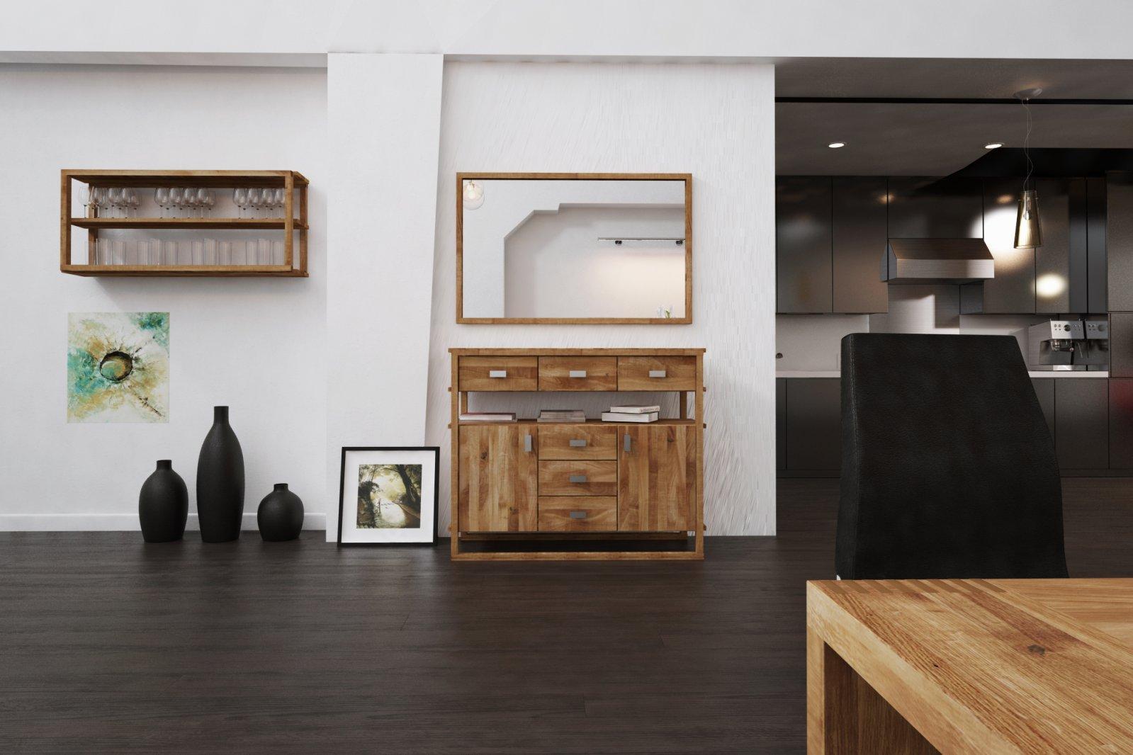 Półka MINIMAL z litego drewna