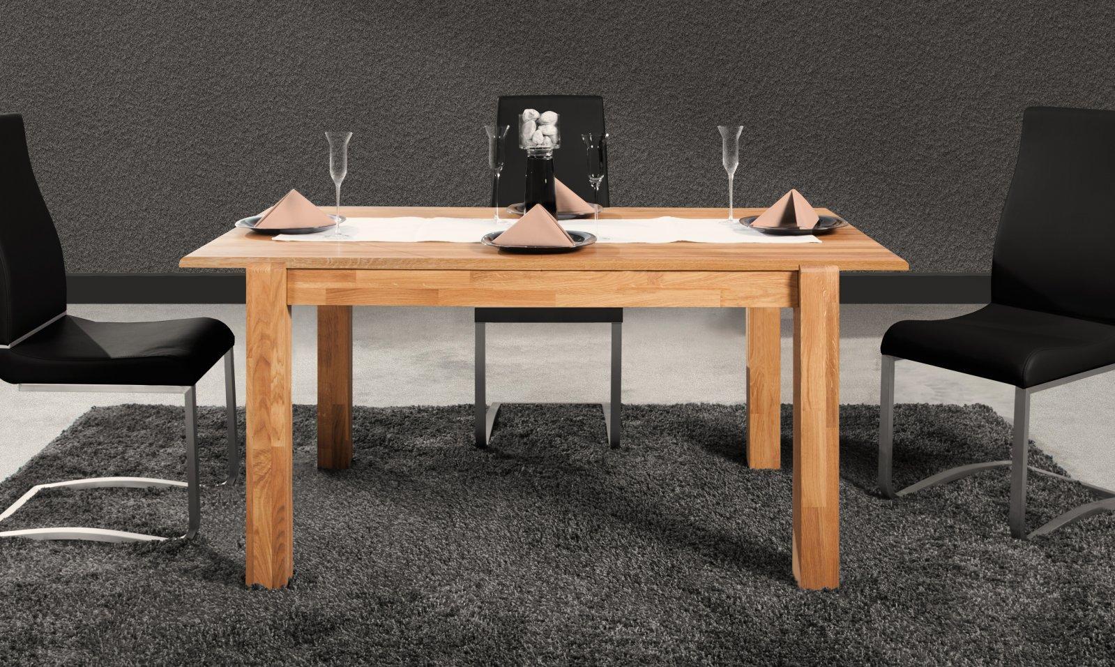 Stół SETI z rozsuwanym blatem z litego drewna