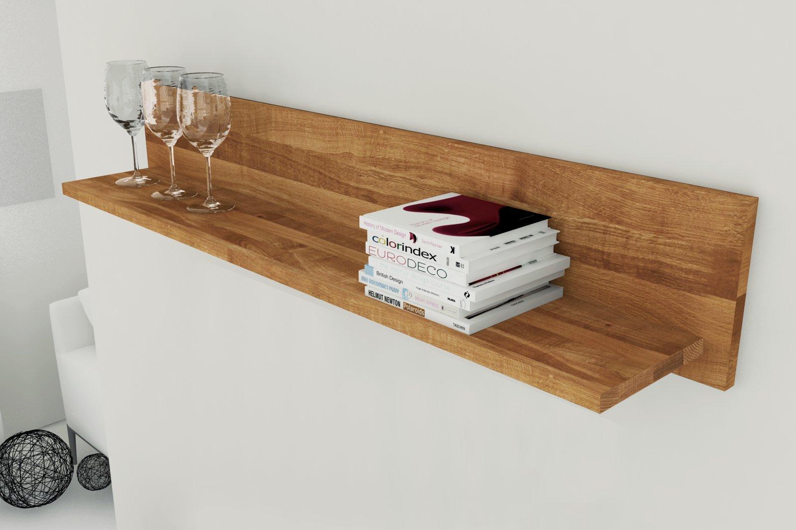 Półka VINCI mała z litego drewna