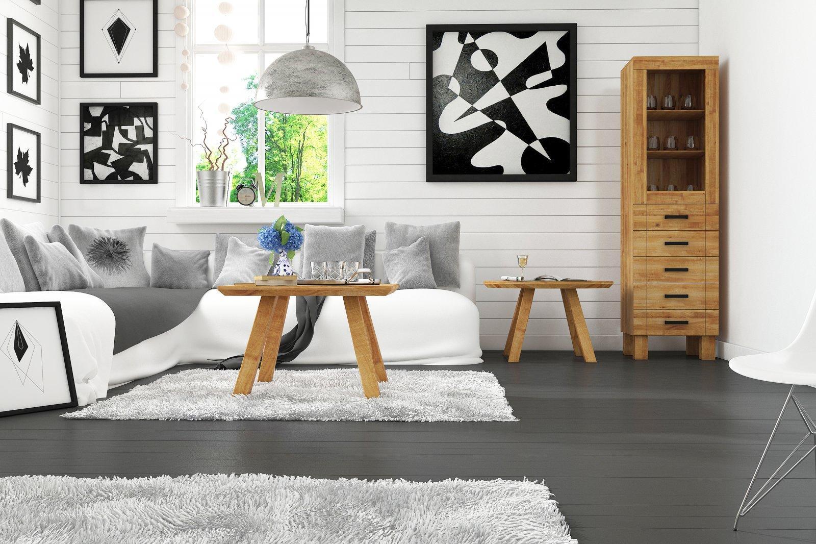 Stolik MUSCAT z litego drewna