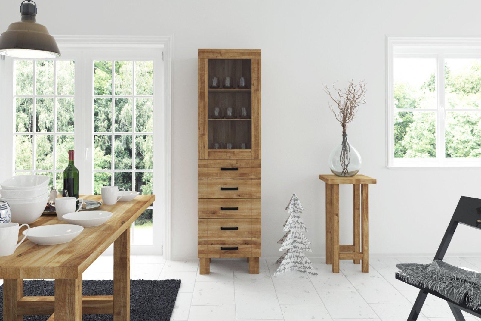 Stół BINGO z dostawkami z litego drewna