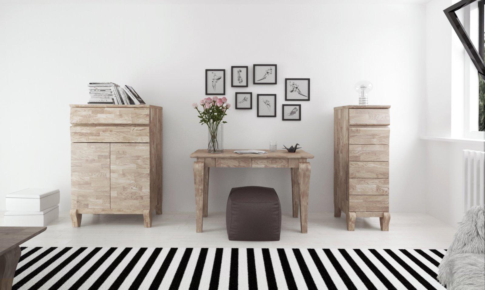 Toaletka BONA z litego drewna