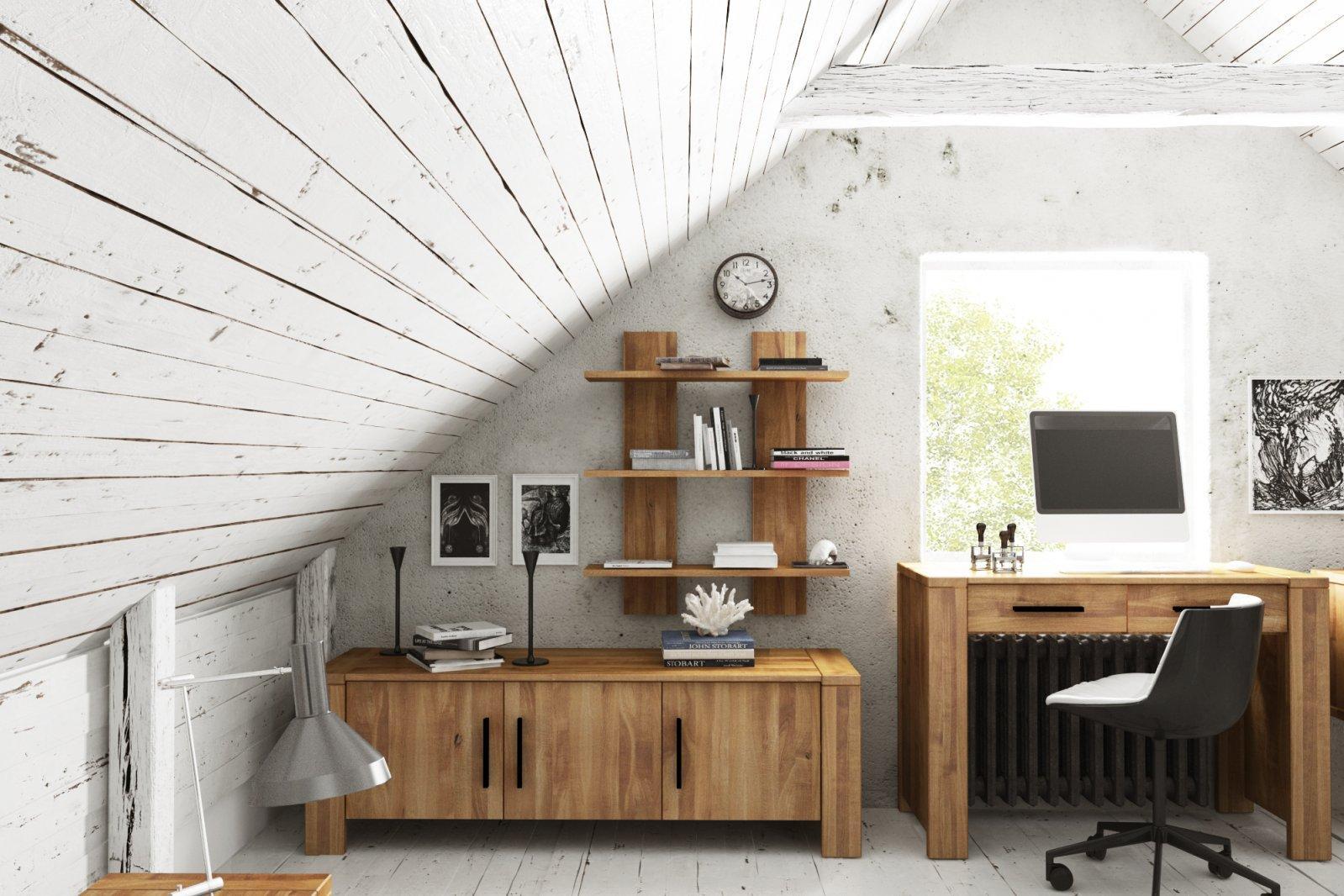 Półka CUBIC z litego drewna