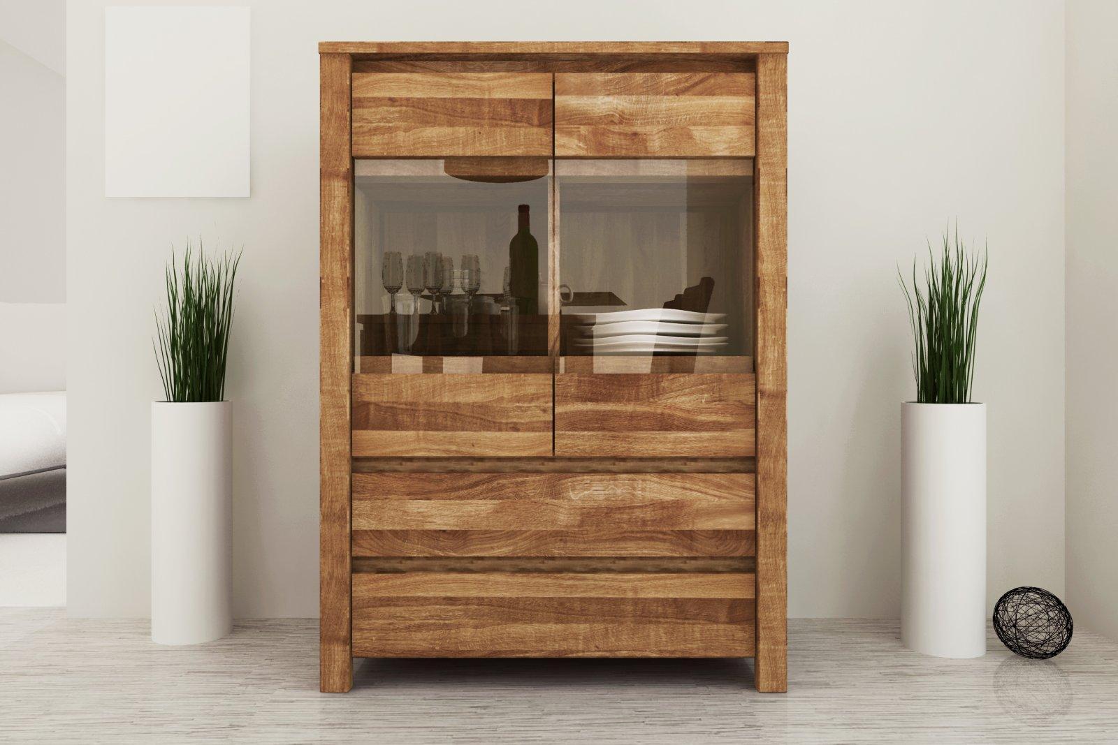 Kredens VINCI 2-drzwiowy z litego drewna