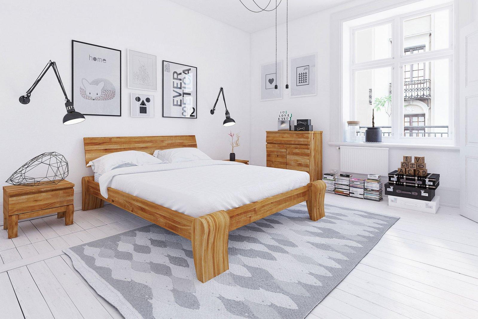 Łóżko BONA wysokie z litego drewna