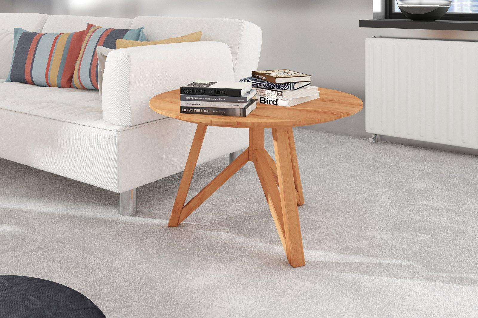 Stolik BRES z litego drewna