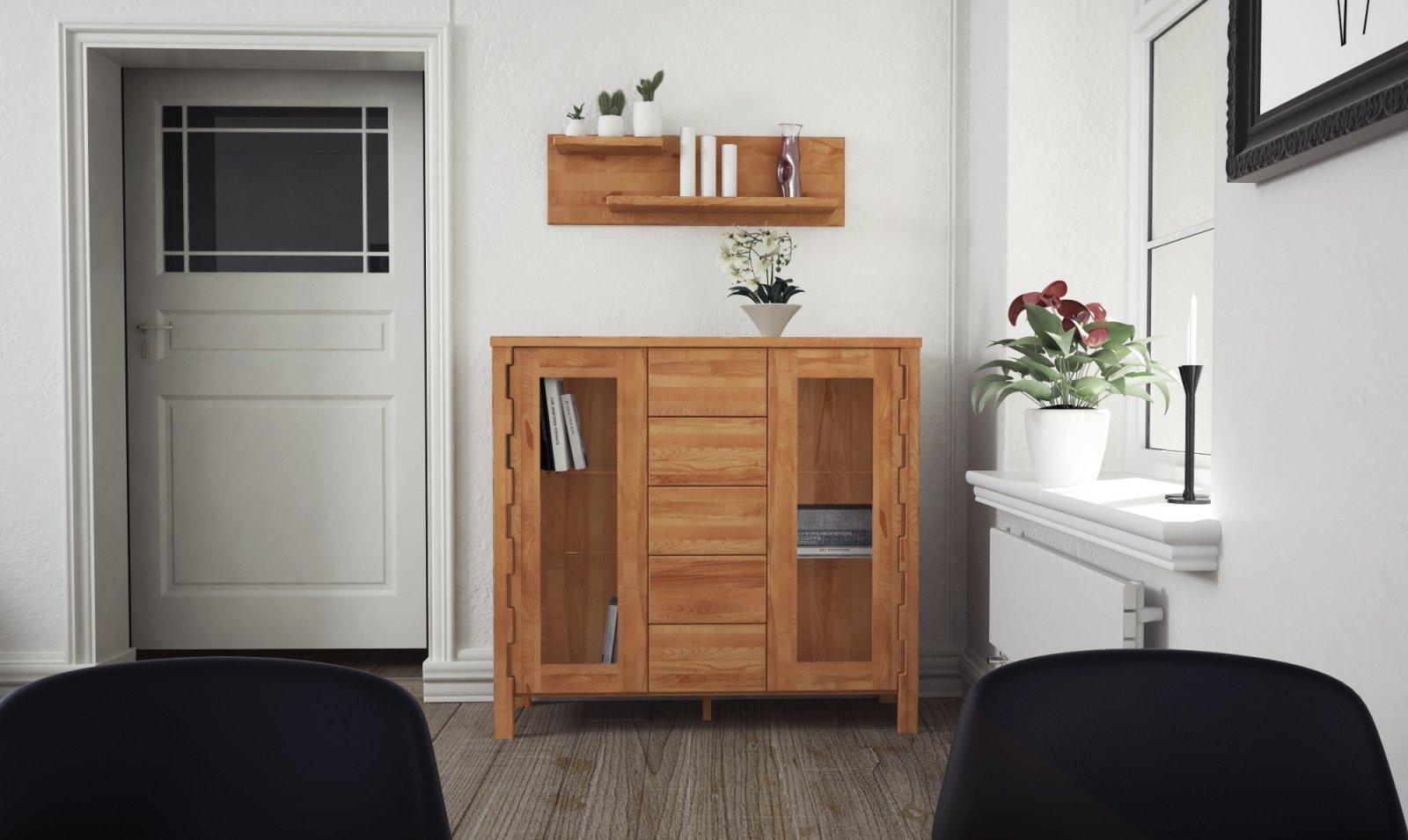 Półka KOLI z litego drewna