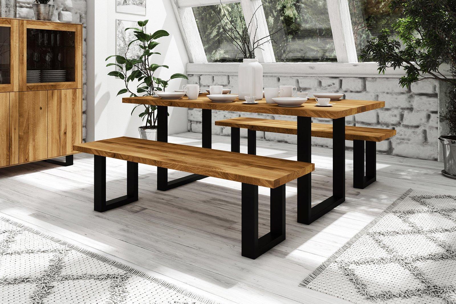 Stół STEEL nierozkładany z litego drewna