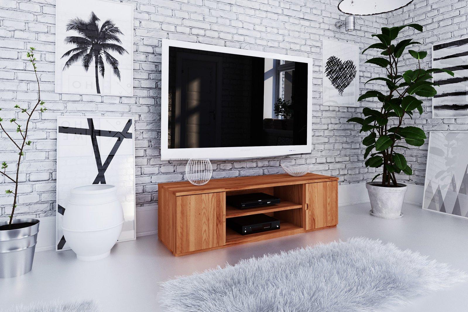 Szafka RTV VENTO z litego drewna