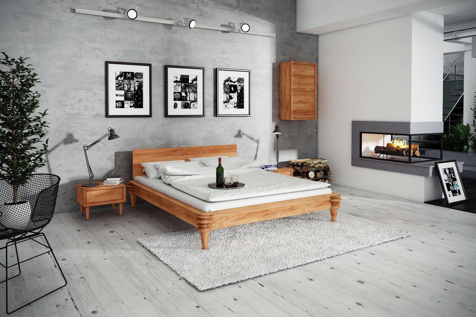 Łóżko PARIS z litego drewna