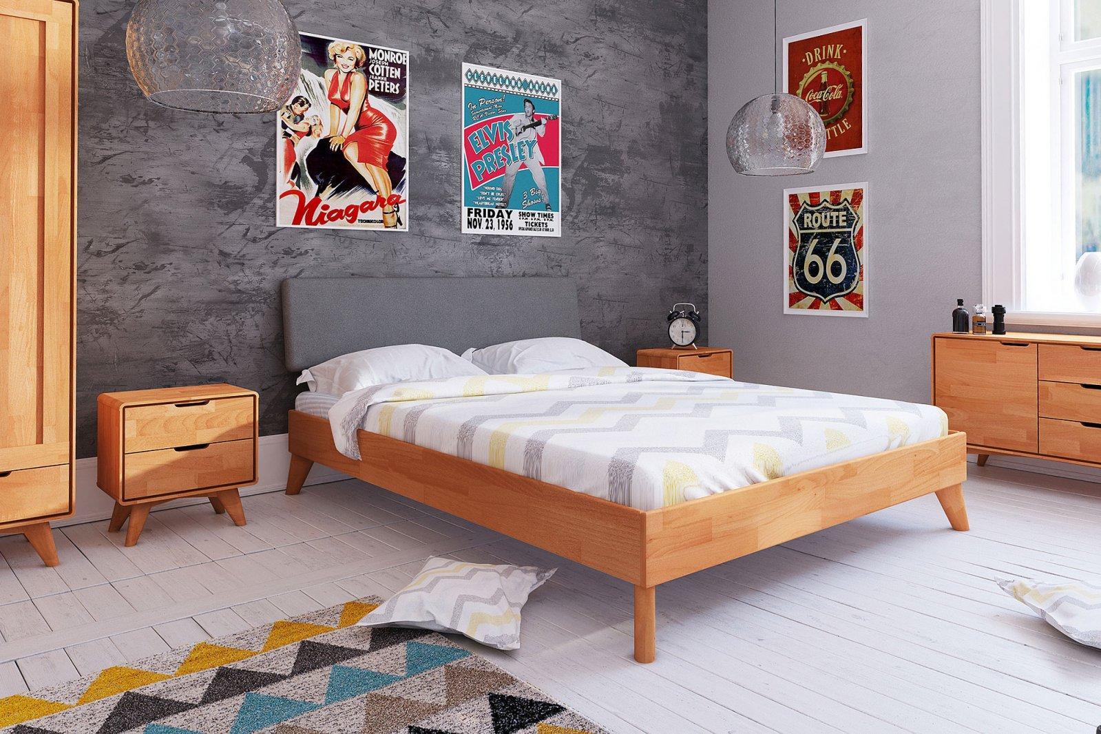 Łóżko GREG z tapicerowanym szczytem