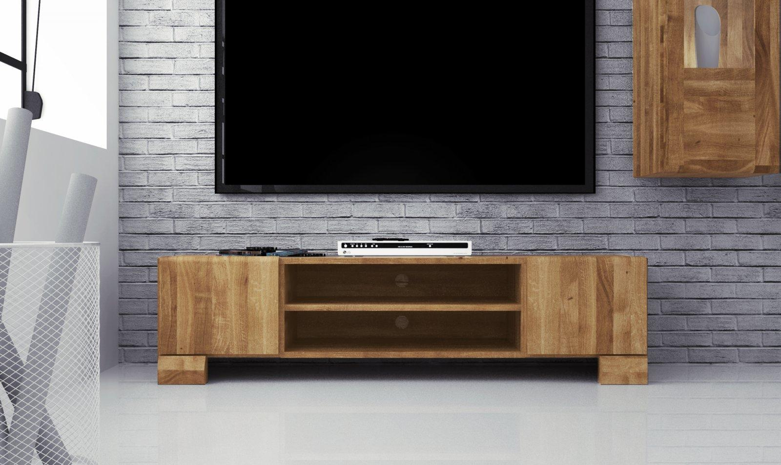 Szafka RTV SETI z litego drewna
