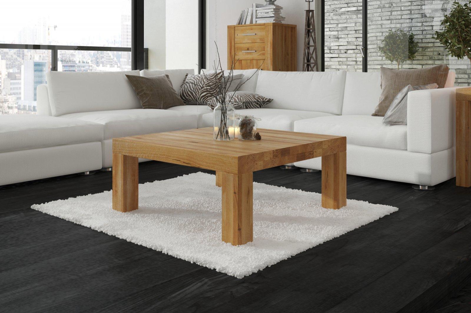 Stolik NESO z litego drewna