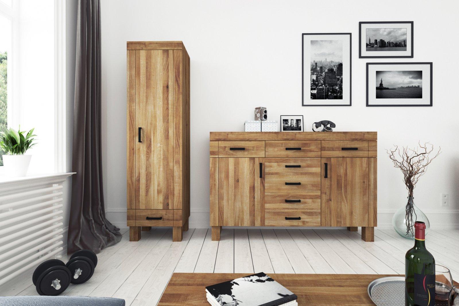 Szafa BINGO 1-drzwiowa z litego drewna