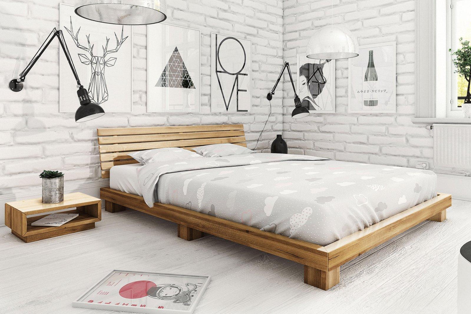Łóżko RASTA z litego drewna
