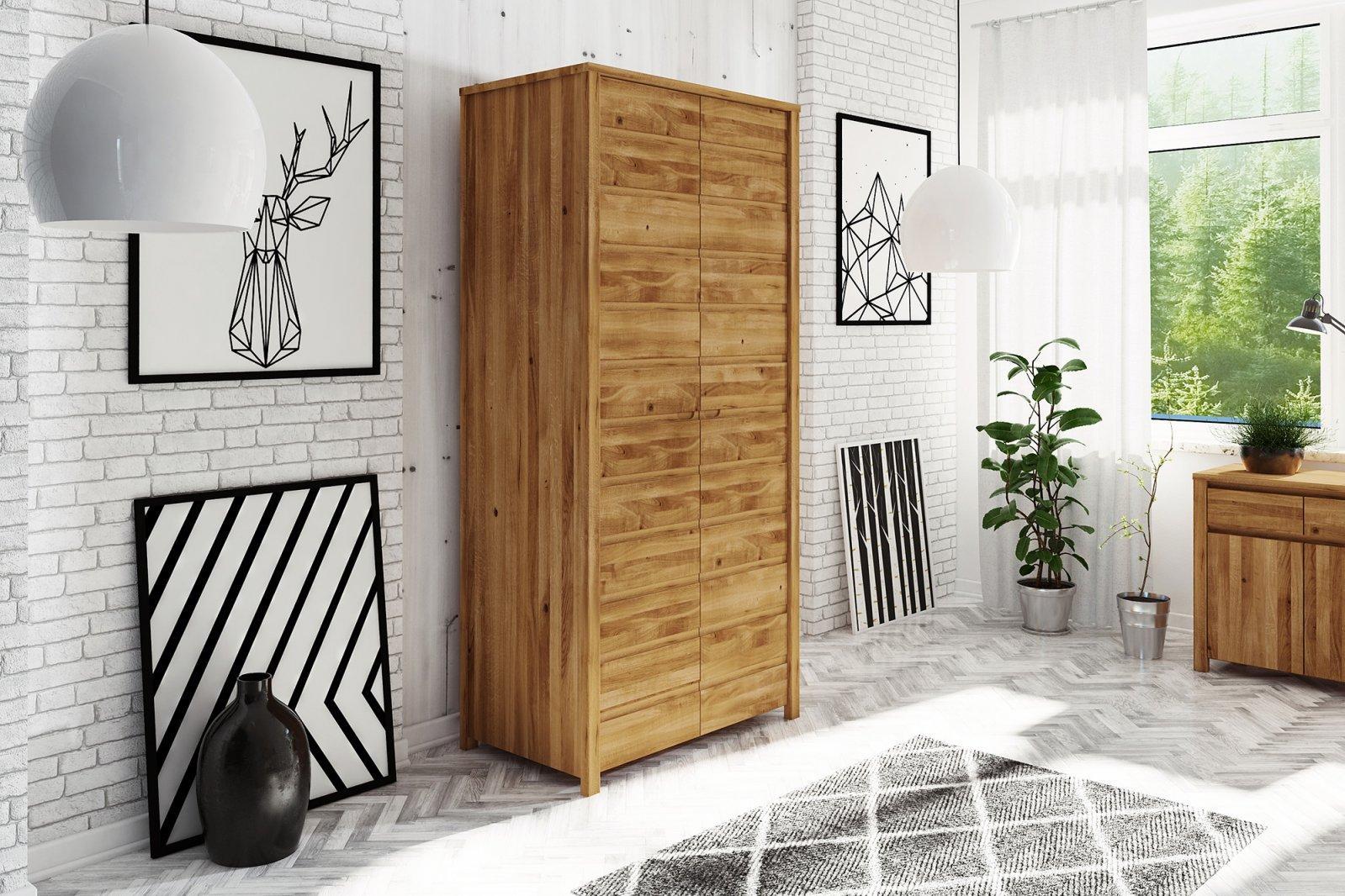 Szafa VINCI 2-drzwiowa z litego drewna