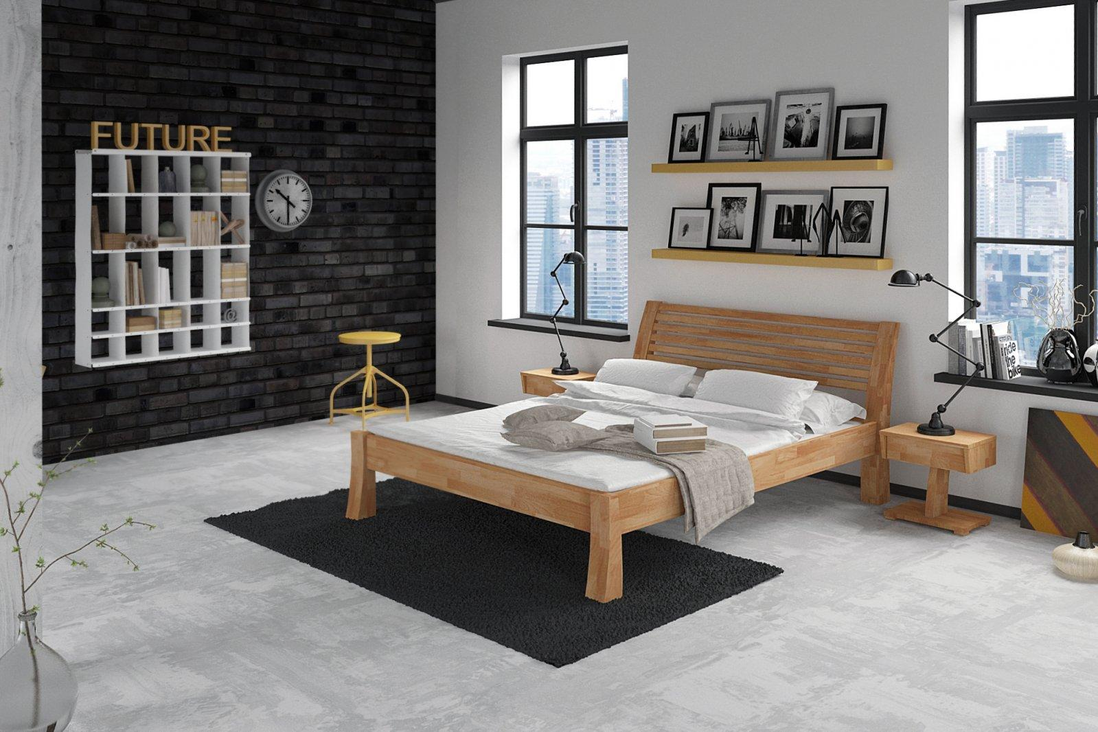 Łóżko BARON z litego drewna