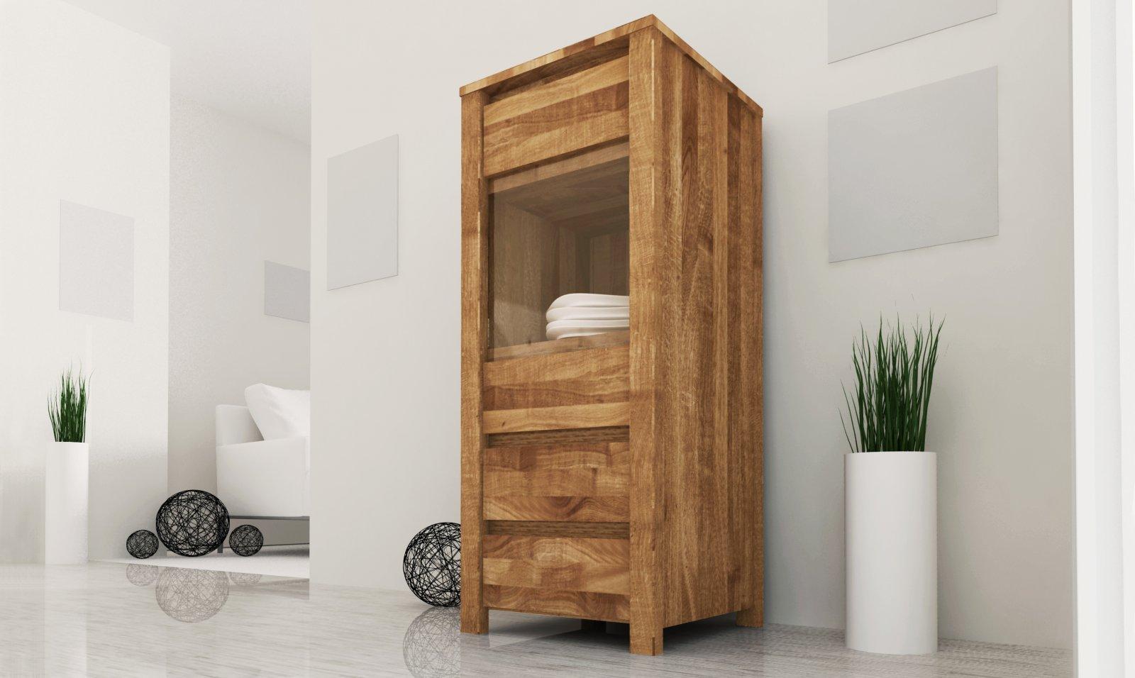 Kredens VINCI 1-drzwiowy z litego drewna