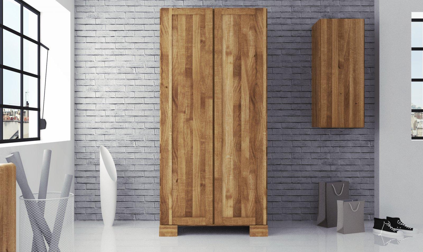 Szafa SETI 2-drzwiowa z litego drewna