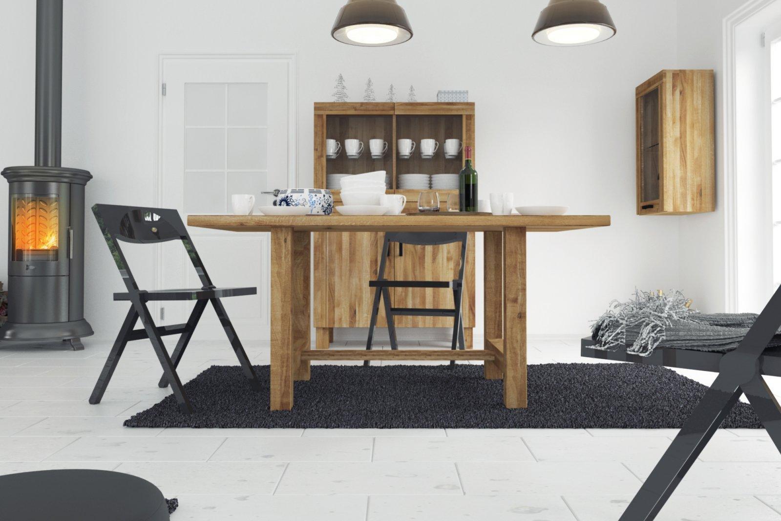 Stół BINGO nierozkładany z litego drewna