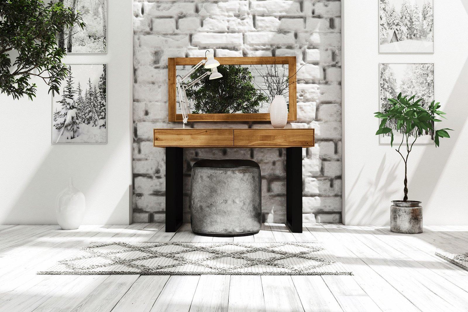 Lustro STEEL z litego drewna