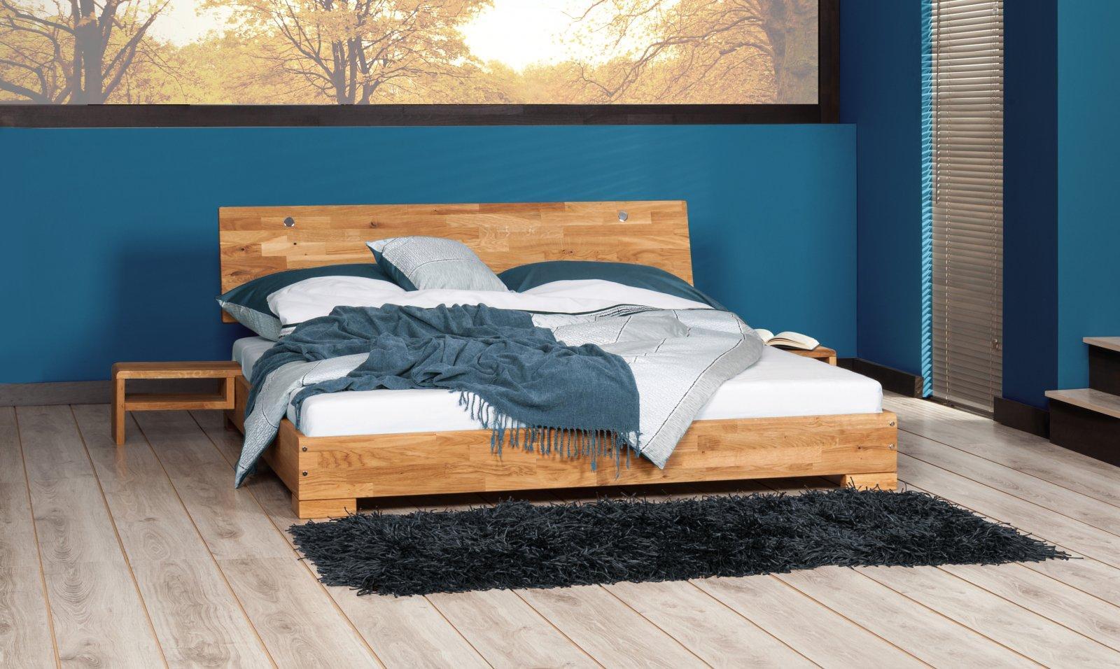 Szafka nocna MOLA 2w1 z litego drewna