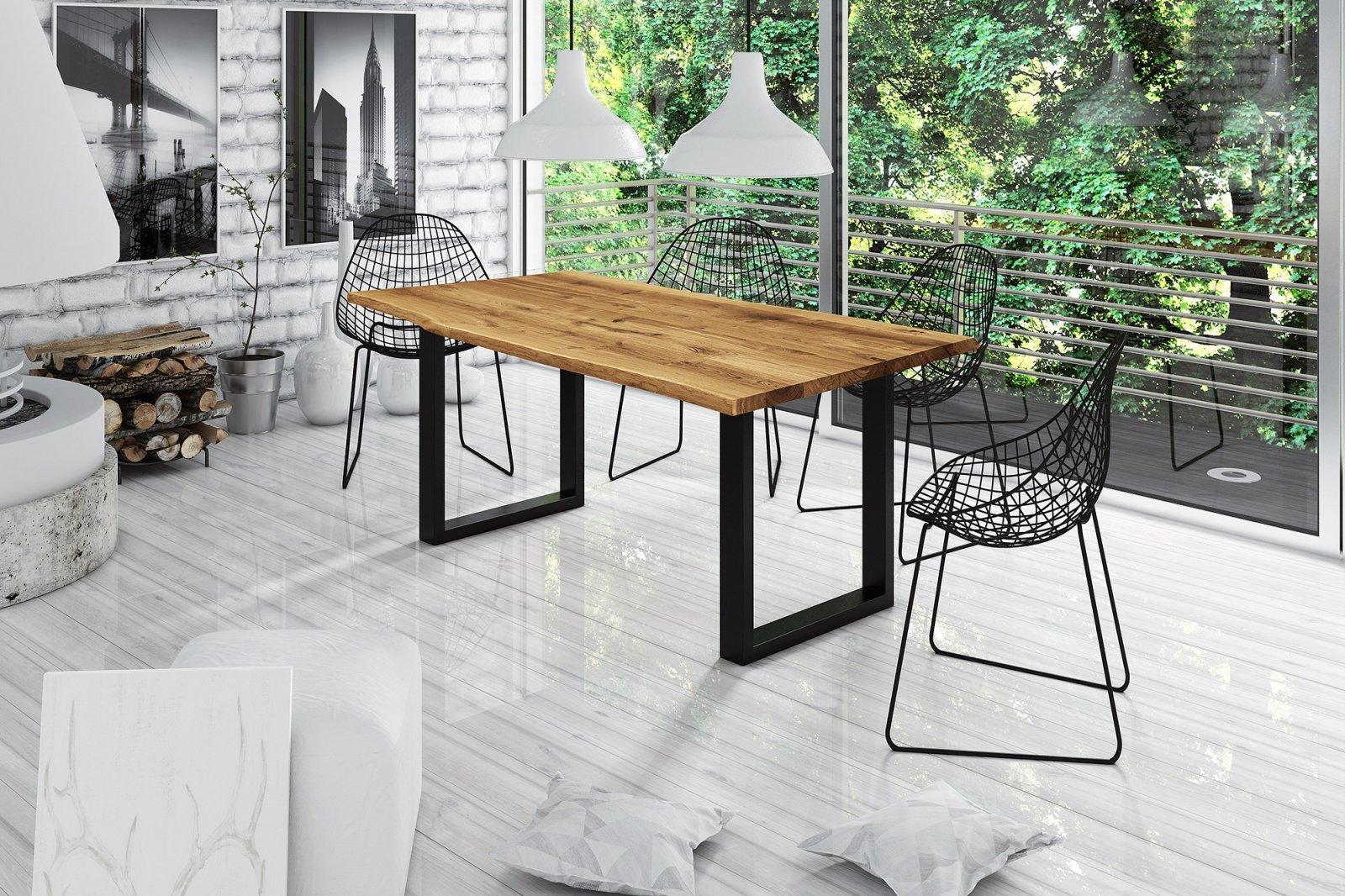 Stół z naturalnym blatem Davi
