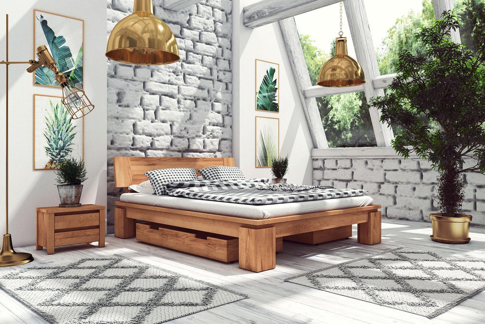 Szuflada pod łóżko z litego drewna