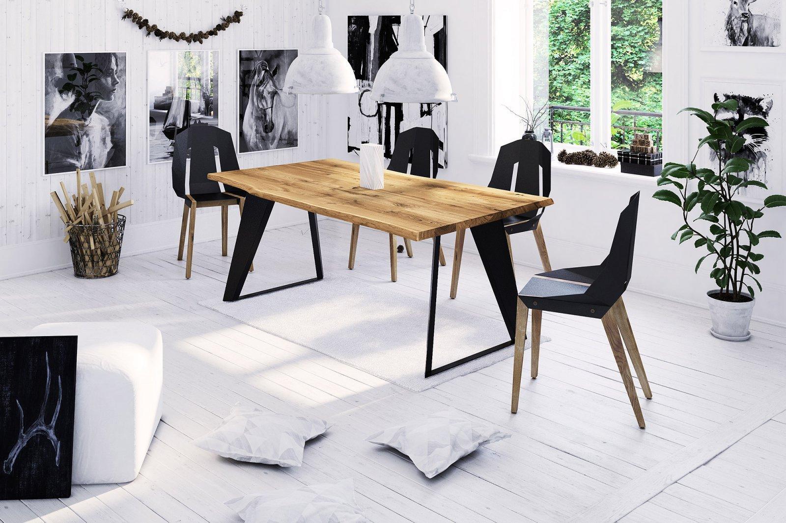 Stół z naturalnym blatem Breno