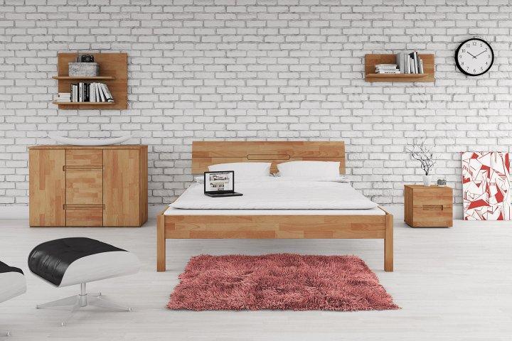 Łóżko VENTO A z litego drewna