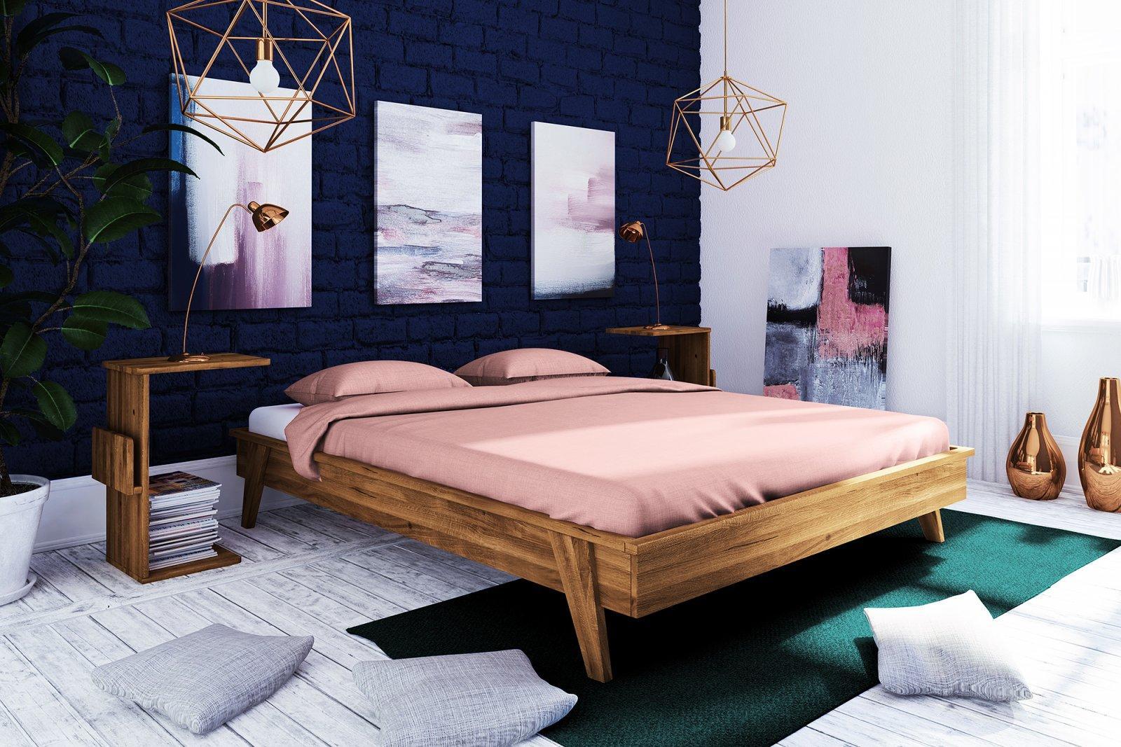 Rama łóżka RETRO z litego drewna
